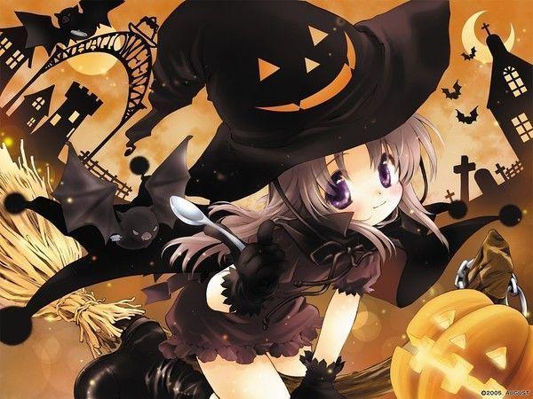 Fille manga halloween
